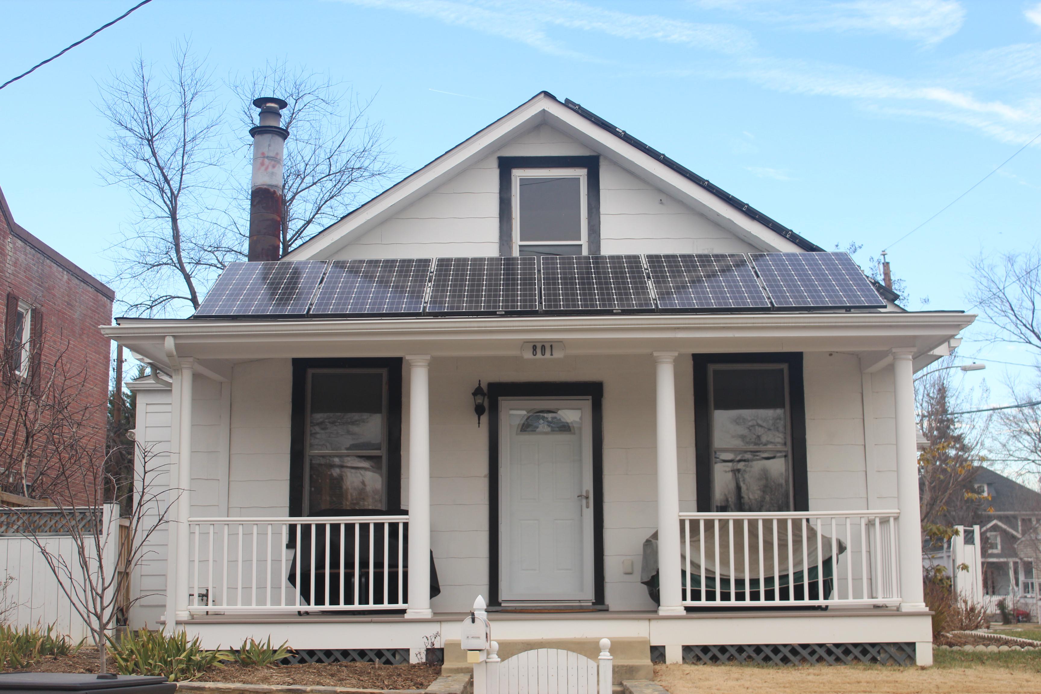 Installation of solar panels in VA