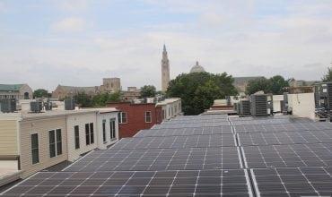 Ballasted solar panels in Washington DC