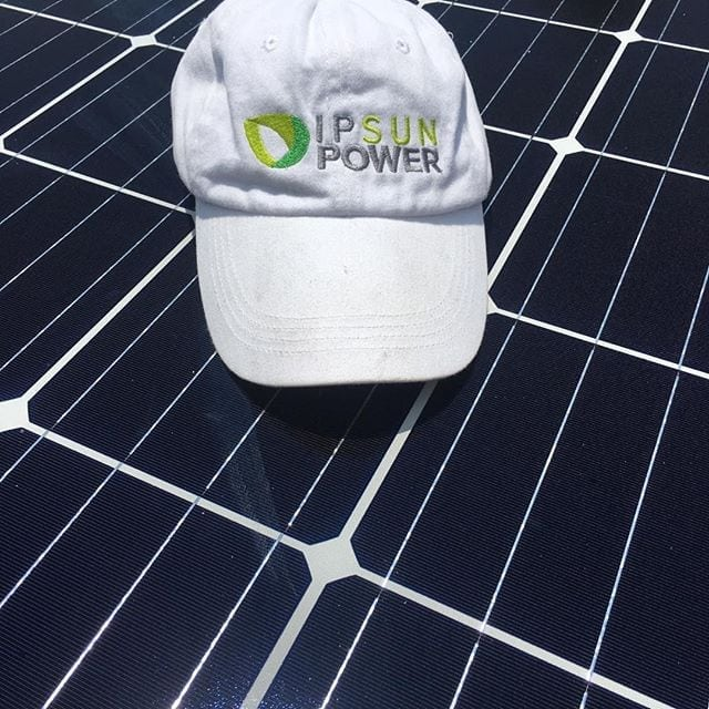 hat on solar panels from Ipsun Power