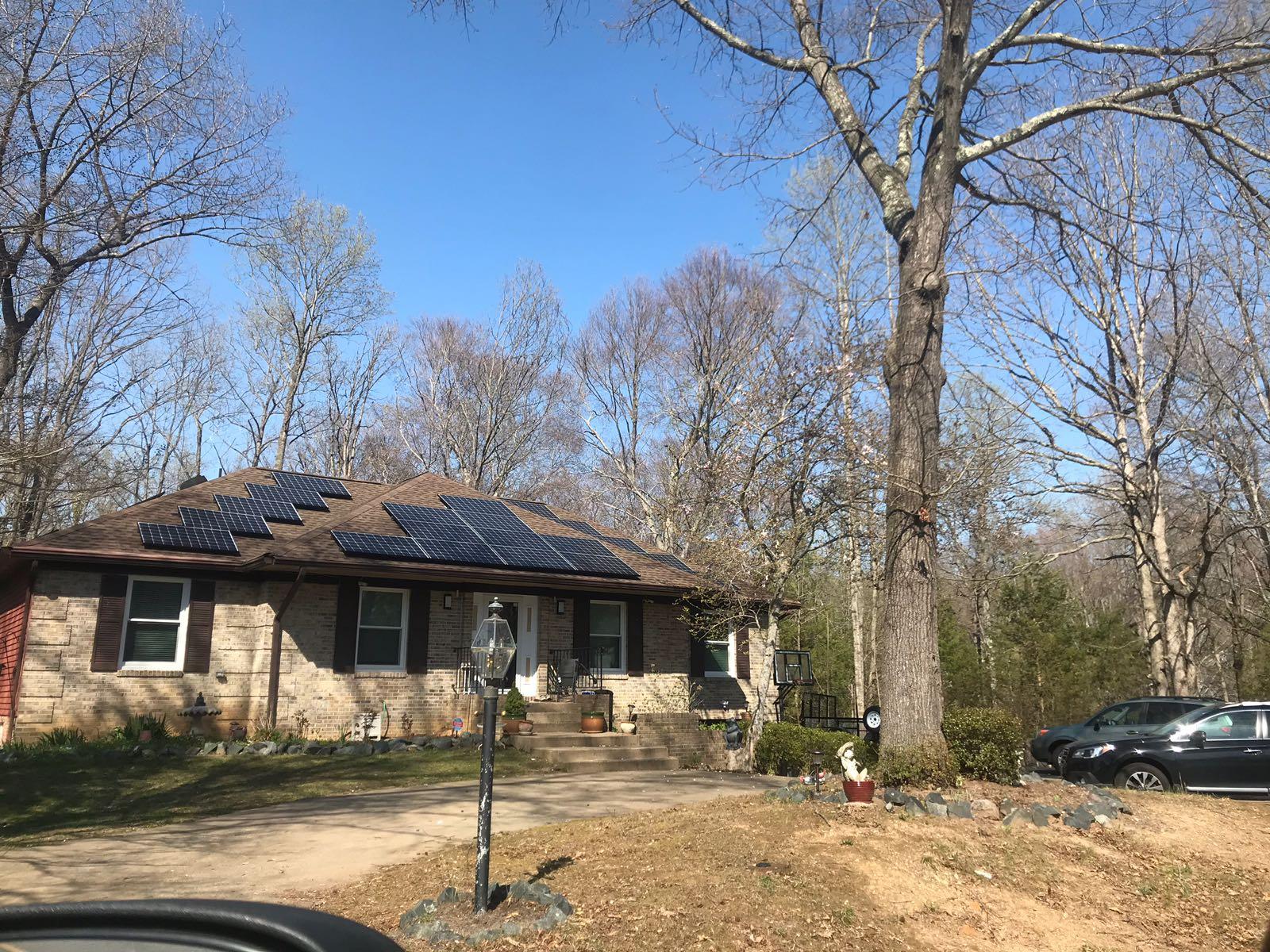 Solar panel installation in Virginia
