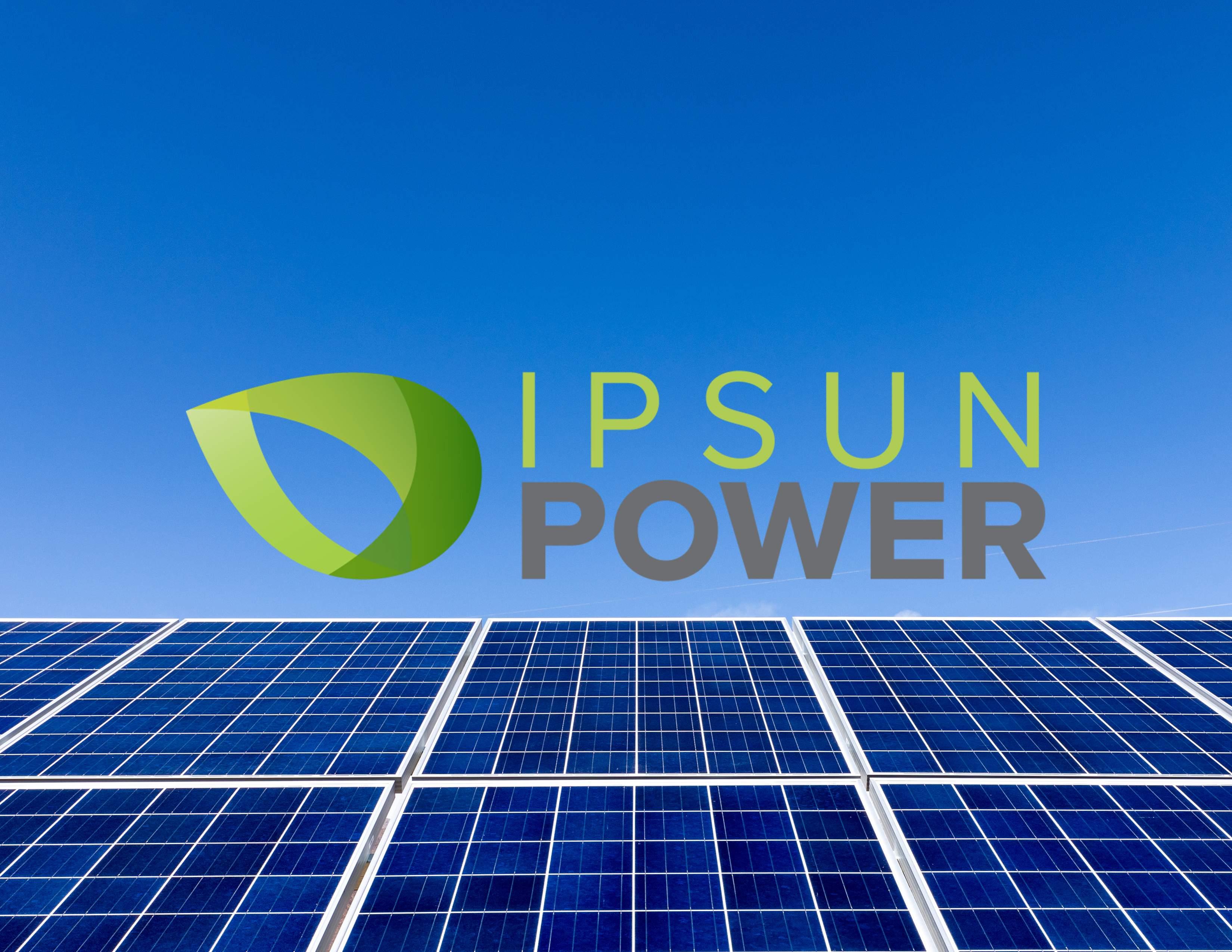 IPSUN POWER solar modules with logo