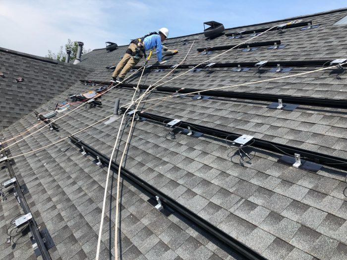 Solar panel installation in Virginia - house