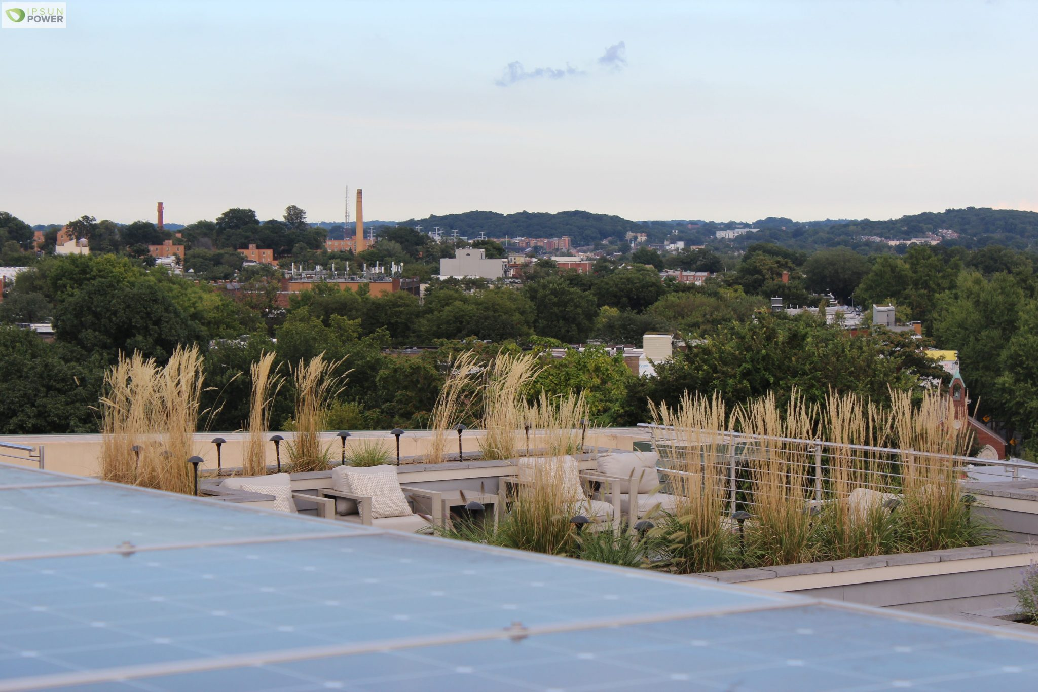 Solar Sitting Area - rooftop