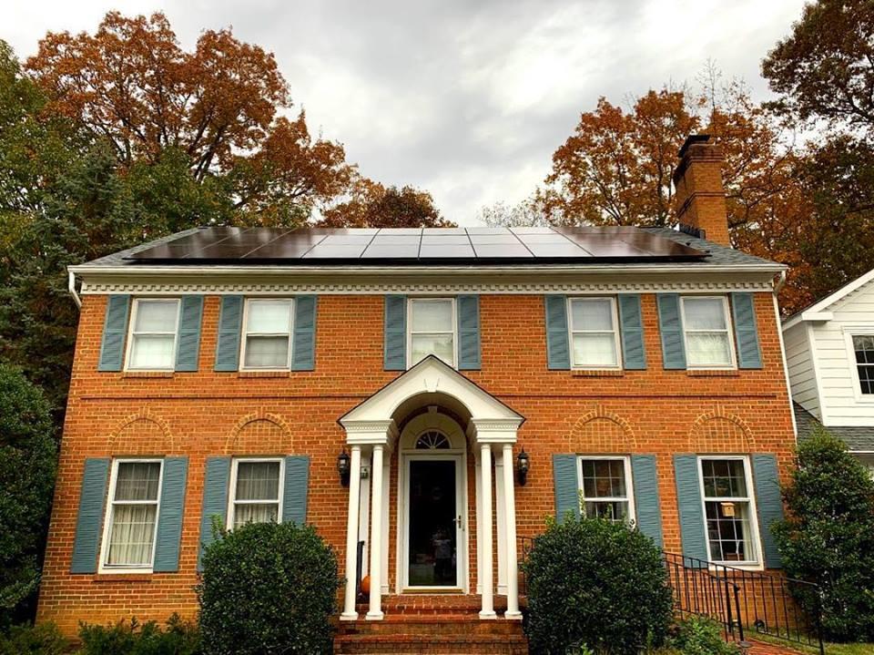 solar home - all black solar panels